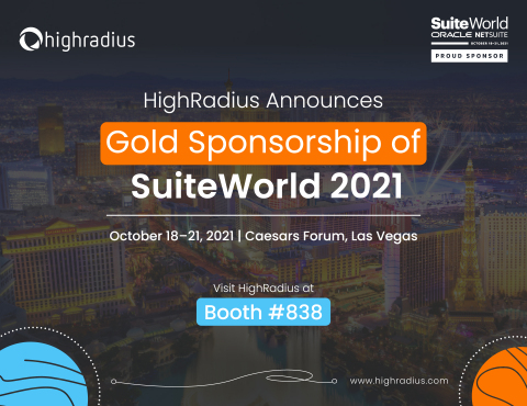 HighRadius Announces Gold Sponsorship of SuiteWorld 2021. (Photo: Business Wire)