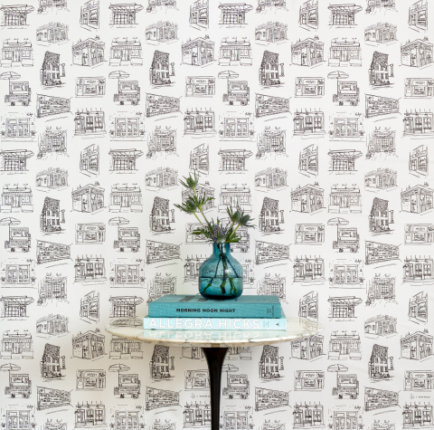 Yelp announced a new collaboration with home decor brand Chasing Paper to introduce a series of three wallpaper prints featuring beloved small businesses across the country, with proceeds benefiting nonprofits that support local entrepreneurs and business communities. (Photo: Business Wire)