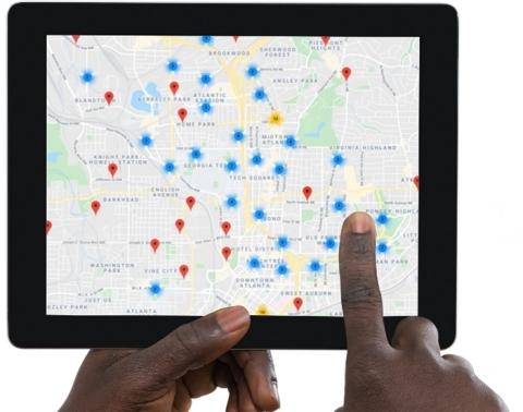 Olea Edge Analytics Dashboard Map (Photo: Business Wire)