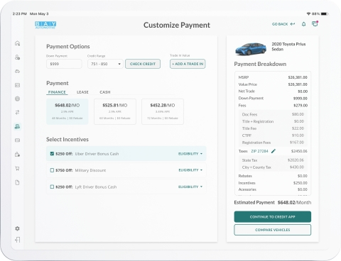 Upstart Auto Retail with AI-powered Financing (Graphic: Business Wire)