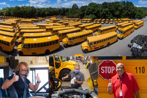 Buncombe County Schools Transportation Department - Courtesy BCS Communications