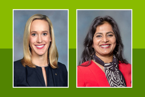Regions Bank is announcing Thursday its Chief Strategy and Client Experience Officer Kate Danella and Chief Operations and Technology Officer Amala Duggirala have been recognized by American Banker magazine for their contributions to the banking industry. (Photo: Business Wire)