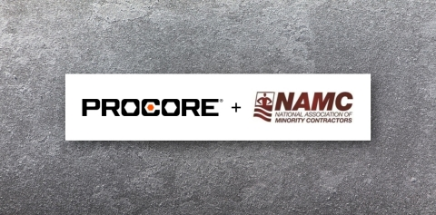 Procore and the National Association of Minority Contractors announce partnership. (Graphic: Business Wire)