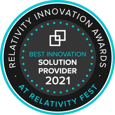 JND eDiscovery wins 2021 'Best Innovation – Solution Provider' Award for its Relativity-integrated solution, Virtual Helpdesk (Graphic: Business Wire)