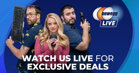 Newegg Live offers exclusive real-time deals available only on mobile during the livestream  (Graphic: Business Wire)