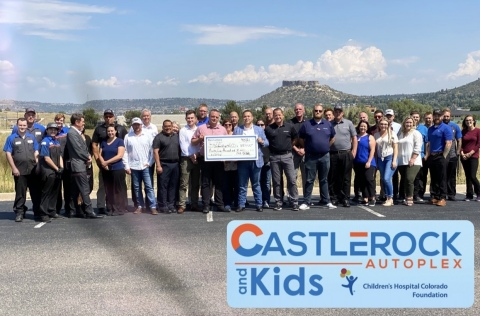 Castle Rock Autoplex donated $35,000 to the Children's Hospital Colorado Foundation, and has agreed to continue their financial support throughout 2022, by donating $10 per vehicle sold to the Children's Hospital Colorado Foundation, along with other events and opportunities as they arise. (Photo: Business Wire)