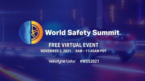 Velodyne Lidar announced its fourth annual World Safety Summit on Autonomous Technology, which will focus on advancing safety, sustainability and efficiency. The summit will look at how autonomous technology is changing and shaping automotive and industrial sectors, and helping create sustainable and efficient infrastructure. (Graphic: Velodyne Lidar)