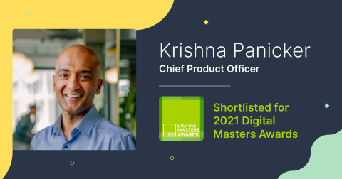 Krishna Panicker, CPO at Pipedrive, shortlisted as a nominee for the Digital Masters Awards 2021 in the Excellence in Product category (Graphic: Business Wire)