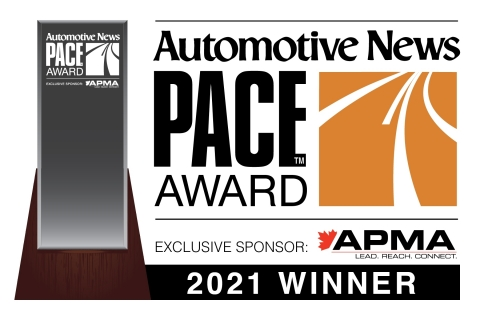 RoboSense was named a 2021 Automotive News PACE Award winner (Graphic: Business Wire)