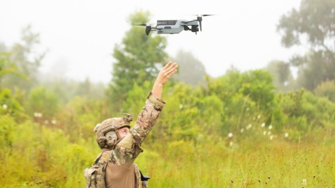 The Teledyne FLIR ION™ M640x tactical Unmanned Aerial System (UAS) is an American designed, developed, and manufactured UAS that will provide military and public safety users with best-in-class capabilities for their missions. The ION M640x features a 640x512 infrared sensor providing twice the resolution of similar UAS, and a Near-Infrared (NIR) laser illuminator. ION M640x includes all-new smart object tracking that enables operators to designate an object for the aircraft to detect and track while it moves. The M640x is MAVLINK compliant and interoperable with Common Ground Control Stations (C-GCS), including the U.S. Army Tactical Open Ground Station Architecture (TOGA). Easily rucksack portable at about 4 pounds, the M640x is rated for operation in demanding environments, including rain and wind. The ION M640x is evolved from the ION M440, one of the original five UAS platforms approved by the U.S. Dept. of Defense under the Blue sUAS program. (Photo: Business Wire)
