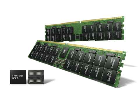 Samsung Starts Mass Production of Most Advanced 14nm EUV DDR5 DRAM (Photo: Business Wire)