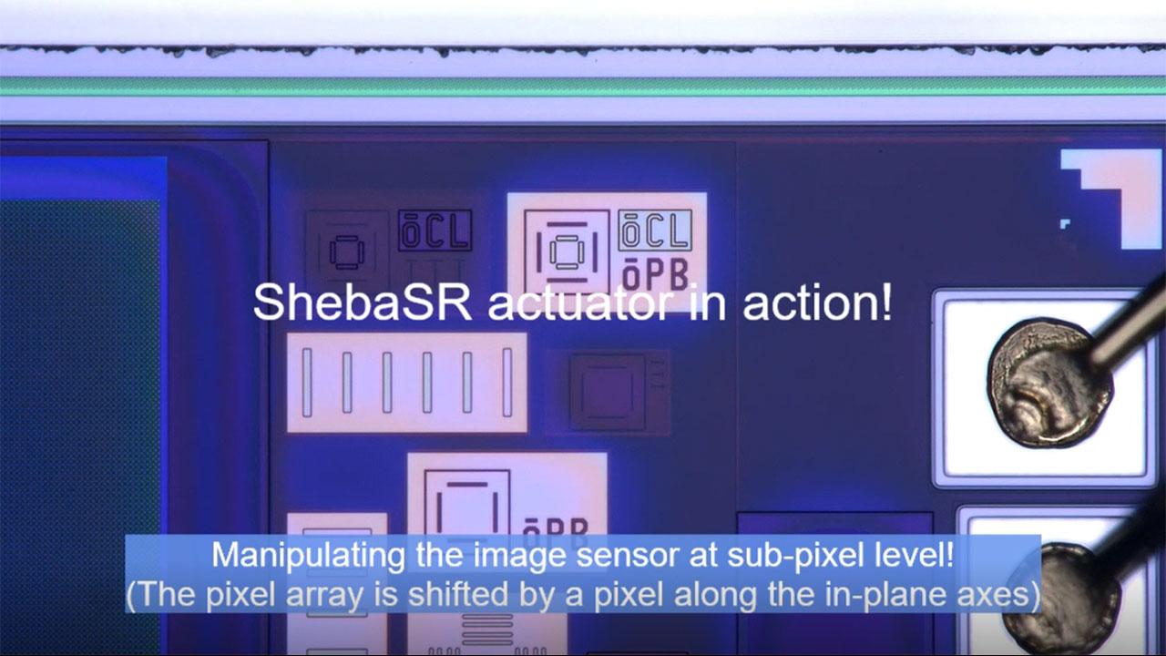 ShebaSR actuator in action.