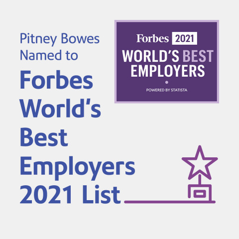 Pitney Bowes named to Forbes World's Best Employers 2021 list