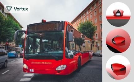 CURBS ist in öffentlichen Verkehrsmitteln montiert und liefert detaillierte 3D-Punktwolken aus der Umgebung der Fahrzeuge während der Fahrt. Photo Credit: Vortex IoT