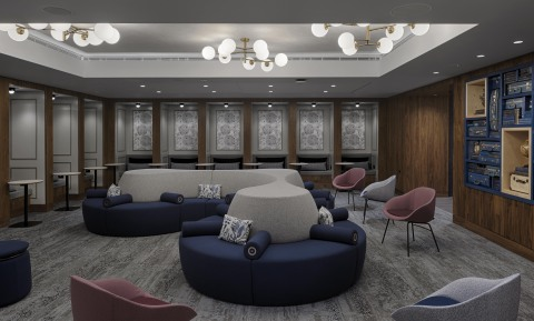 Seating area for business and leisure travelers (Photo: Business Wire)