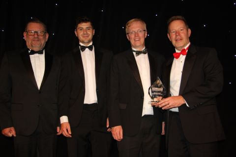 """ExaGrid wins """"Enterprise Backup Hardware Vendor of the Year"""" and """"Immutable Storage Company of the Year"""" at the """"The Storries XVIII"""" awards ceremony held in London on October 7, 2021. (Photo: Business Wire)"""