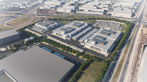 Vantage Data Centers' future Johannesburg campus will include 80MW of critical IT load across three facilities. (Photo: Business Wire)