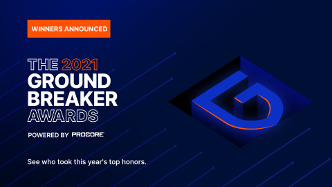 The winners of Procore's 2021 Groundbreaker Awards revealed. (Graphic: Business Wire)