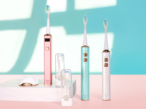 FOSOO Launched Stylish Eco-friendly APEX Metal Sonic Electric Toothbrush with 180-Day Battery Life (Photo: Business Wire)