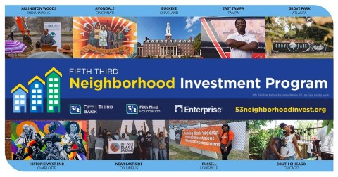 Fifth Third Bank, National Association, and Enterprise Community Partners are announcing the launch of a $180 million neighborhood program to accelerate revitalization in nine key majority-Black communities across seven states that have experienced disinvestment. (Photo: Business Wire)