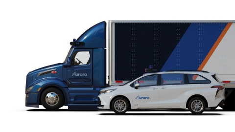 Aurora Horizon and Aurora Connect, Aurora's subscription driver-as-a-service products will enable customers to deploy Aurora-powered trucks and ride-hailing passenger vehicles simply and seamlessly. (Photo: Aurora)