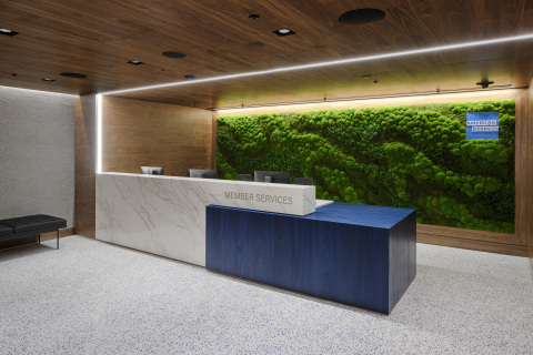 Reception area at the Centurion Lounge in London Heathrow Airport (Photo: Business Wire)