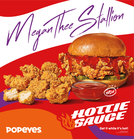 Megan Thee Stallion & Popeyes® Team Up for Unprecedented Ownership, Product Creation, Fashion Drop and Philanthropic Collaboration to Disrupt the Fast Food Industry (Graphic: Business Wire)