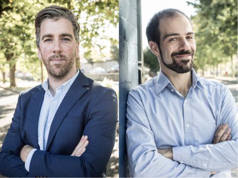 Mitgründer von OneProjects, Fionn Lahart (links) und Christoph Hennersperger (rechts) (Foto: Business Wire)