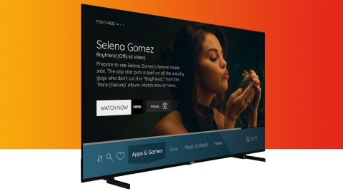 Vewd and Vestel today announced Operator TV, a fully-featured Smart TV with a built-in, content-enriched Pay TV experience. (Graphic: Business Wire)