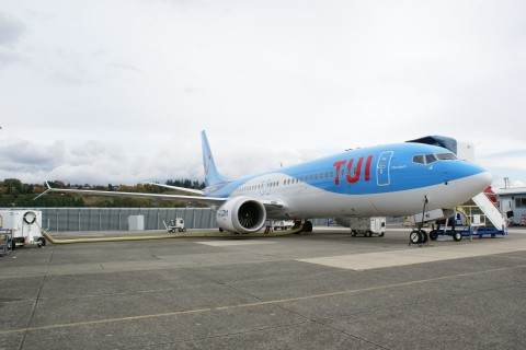 Aviation Capital Group Announces Delivery of One Boeing 737-8 MAX to TUI Travel (Photo: Business Wire)